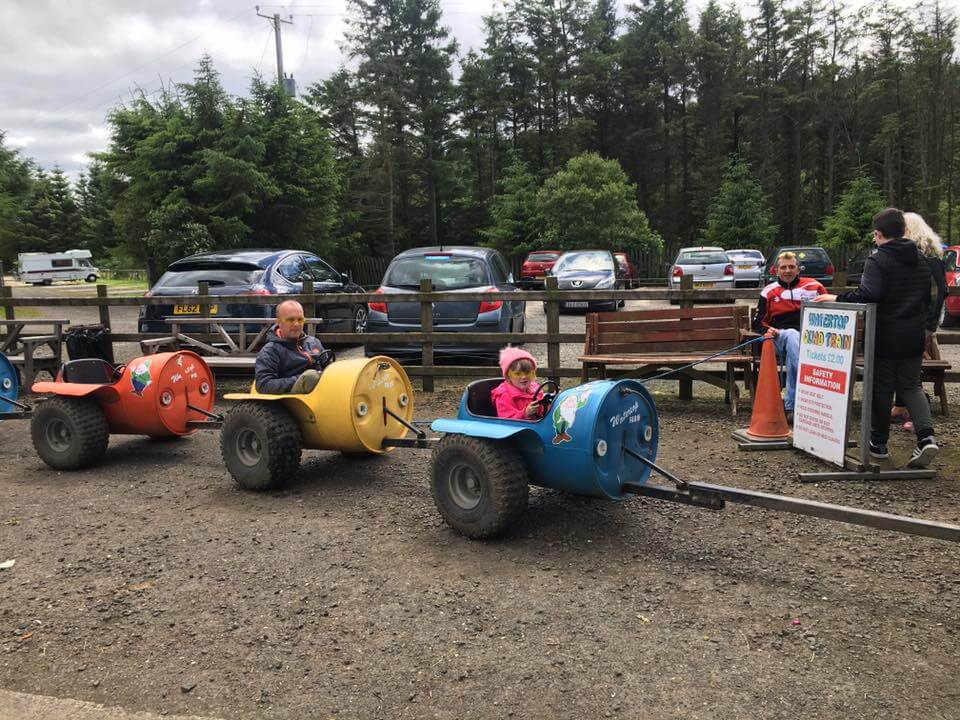 Watertop farm barrel ride