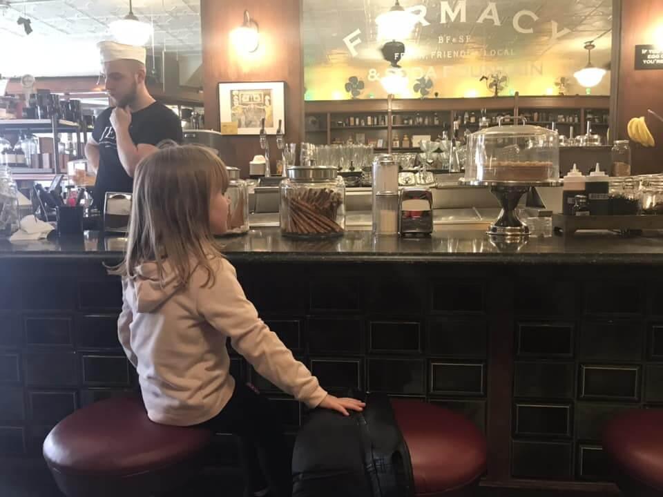 Brooklyn Farmacy & Soda Fountain counter