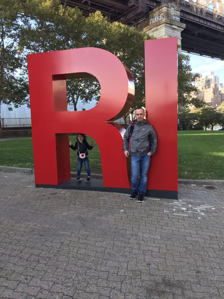 Roosevelt Island sign just outside of Welcome centre