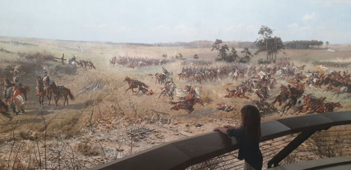 Panorama of the Battle of Racławice Megan looking on