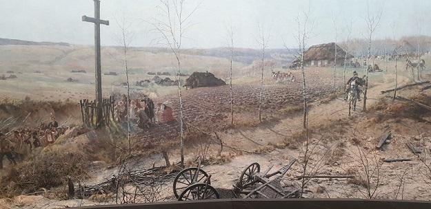 Panorama of the Battle of Racławice cross